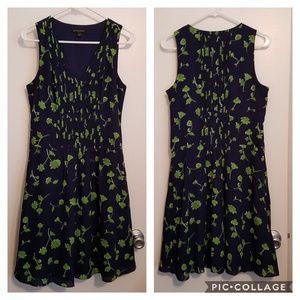Blue Green Pintuck Dress